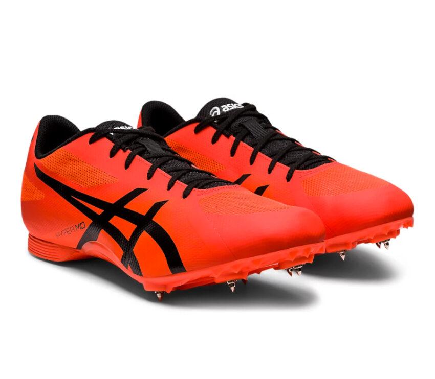 scarpe pista mezzofondo unisex asics hyper md 7 arancioni e nere