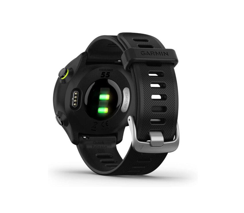 sensore cardio orologio gps running garmin forerunner 55 nero