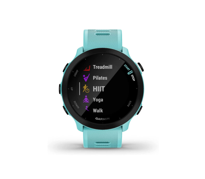 quadrante orologio gps running garmin forerunner 55 azzurro