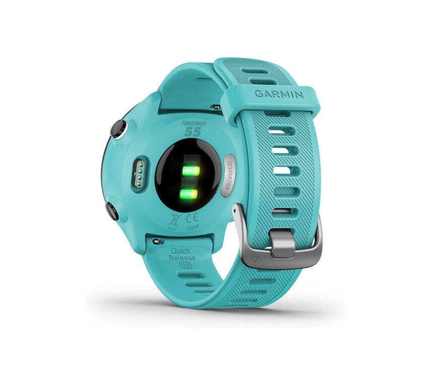 sensore cardio orologio gps running garmin forerunner 55 azzurro
