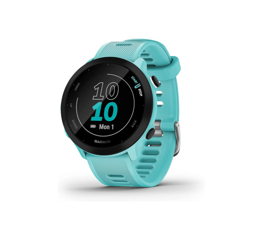 orologio gps running garmin forerunner 55 azzurro