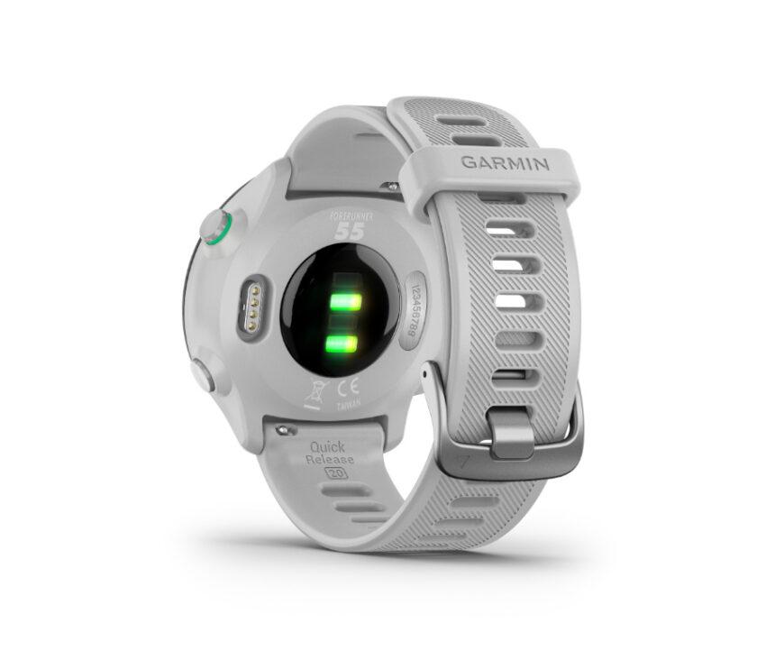 sensore cardio orologio da running gps garmin forerunner 55 bianco