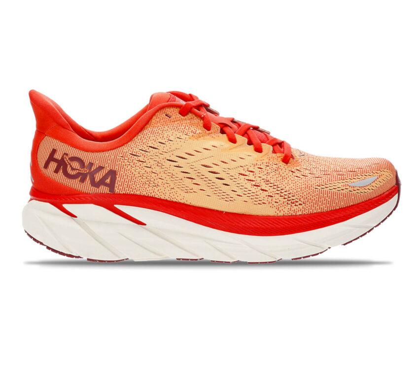 scarpa da running uomo Hoka Clifton 8 rossa