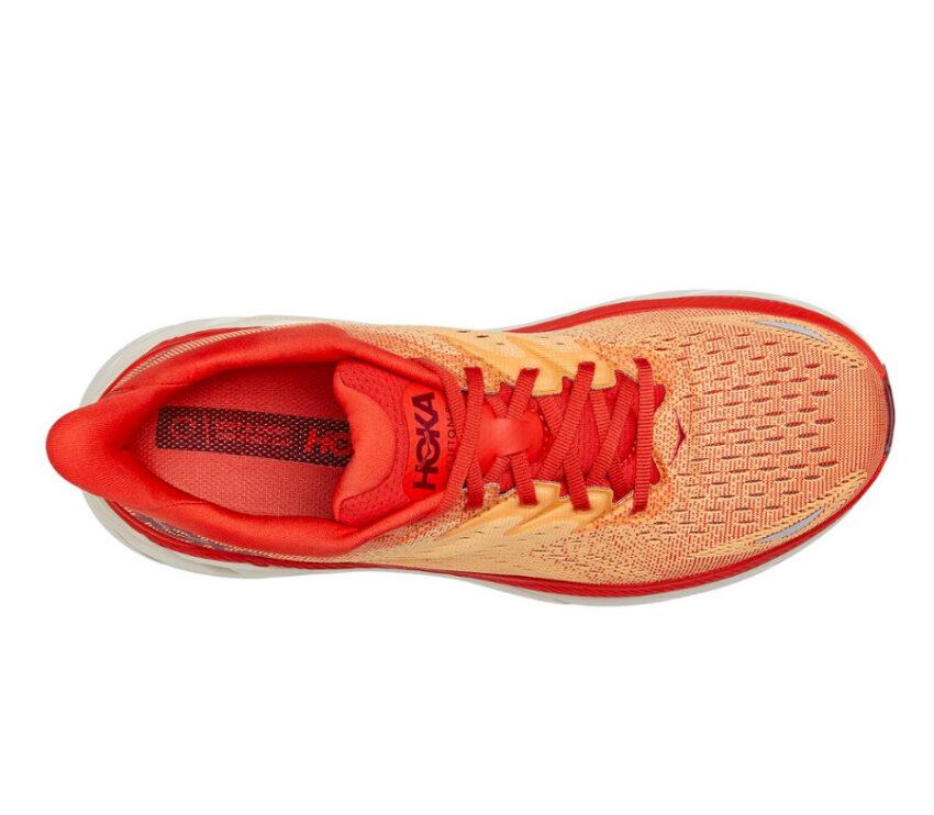 tomaia scarpa da running uomo Hoka Clifton 8 rossa