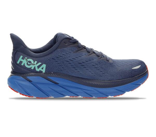 scarpa da running ammortizzata uomo hoka clifton 8 blu
