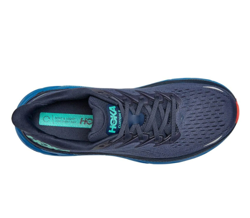 tomaia scarpa da running ammortizzata uomo hoka clifton 8 blu