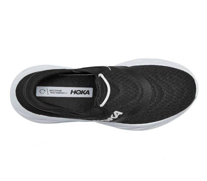 scarpa nera da recupero post corsa da donna hoka one one recovery 2 vista dall'alto