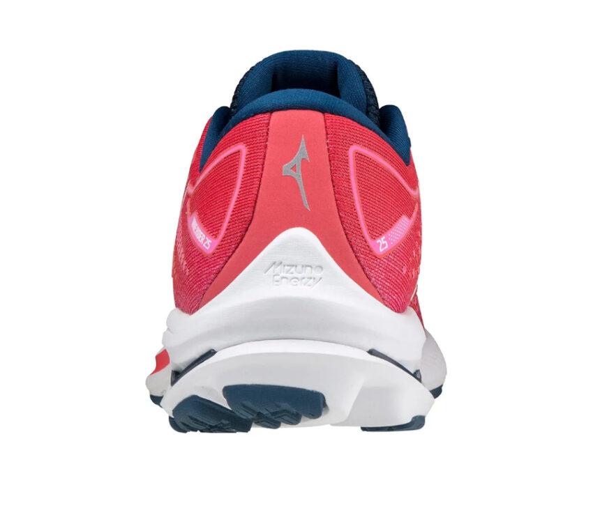 tallone scarpa da running mizuno wave rider 25 rosa