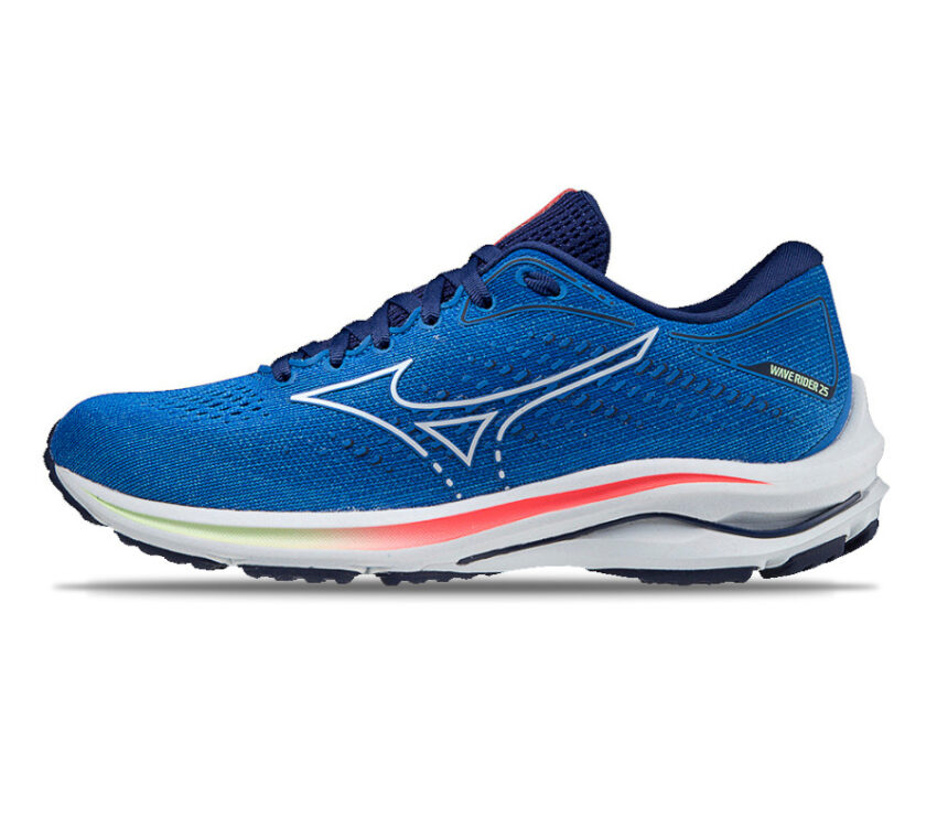 scarpa da running mizuno wave rider 25 blu lato
