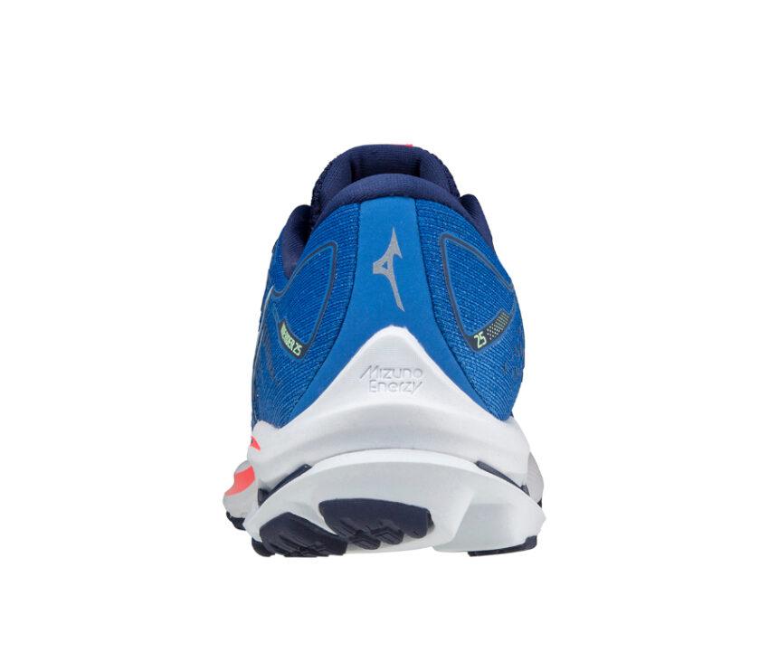 scarpa da running mizuno wave rider 25 blu tallone