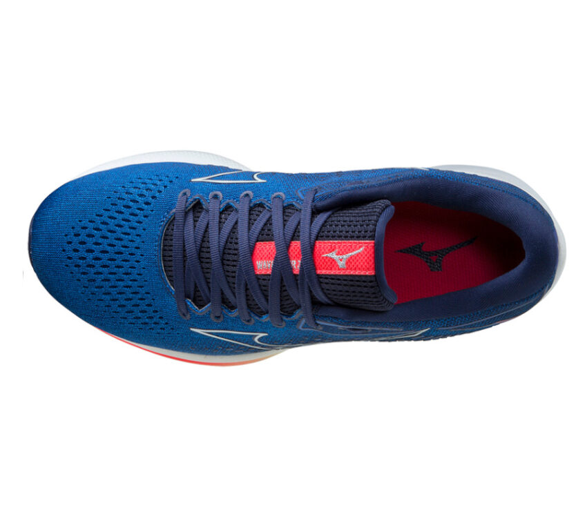 scarpa running mizuno wave rider 25 uomo blu vista dall'alto