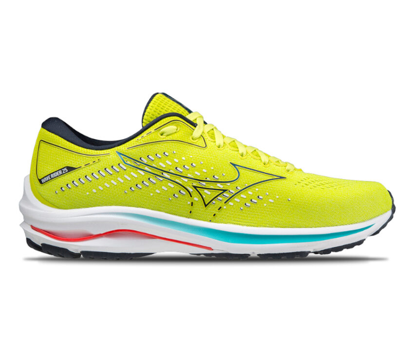 scarpa da running uomo mizuno wave rider 25 giallo fluo