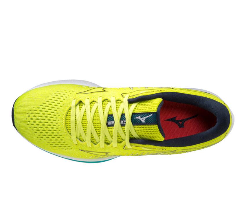 tomaia scarpa da running uomo mizuno wave rider 25 giallo fluo