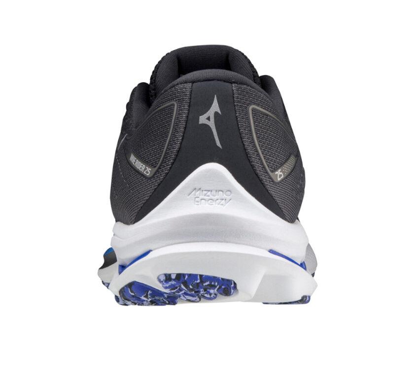 retro scarpa running uomo mizuno wave rider 25 grigio scuro e bianca