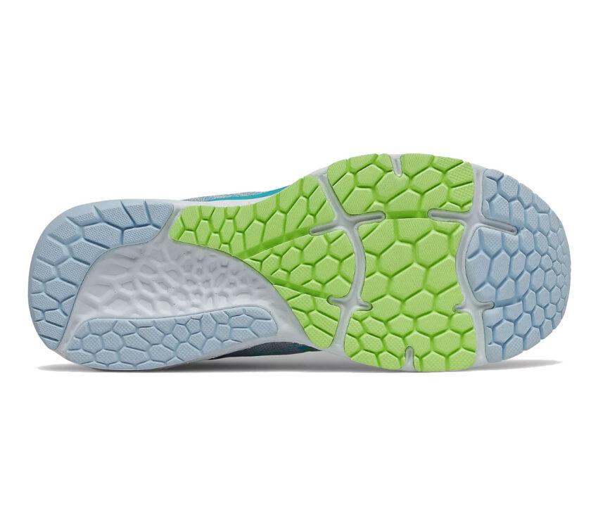 suola scarpe running donna a pianta larga new balance 880 v 11 azzurra