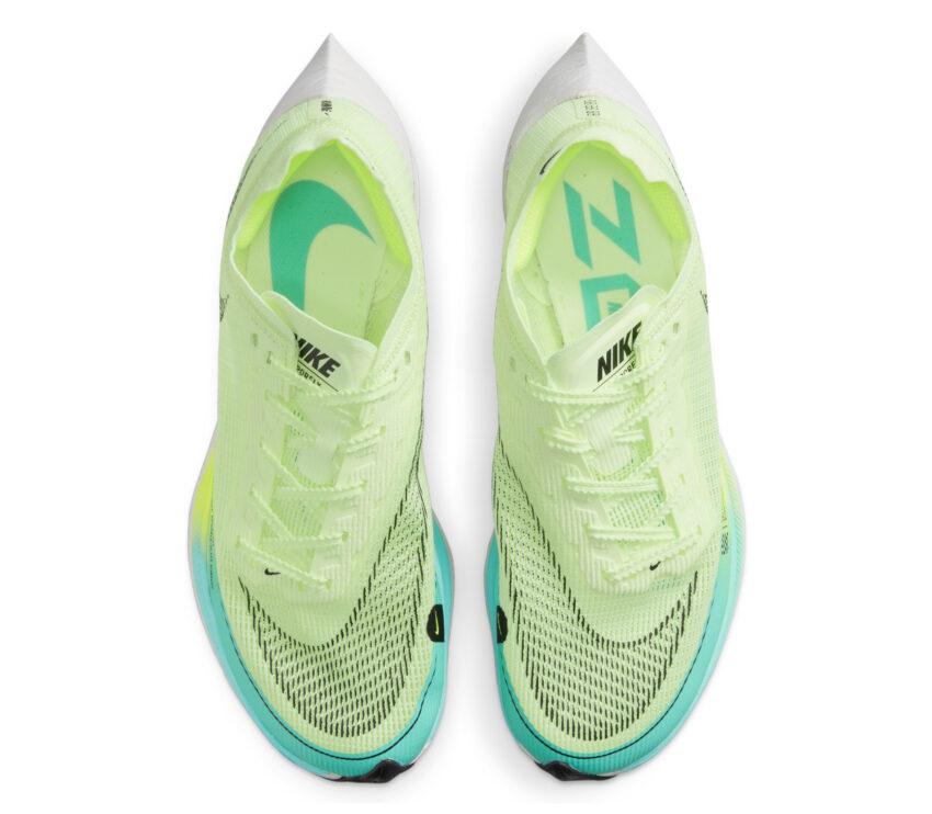 tomaia scarpe da running veloci da donna nike vaporfly next 2 fluo