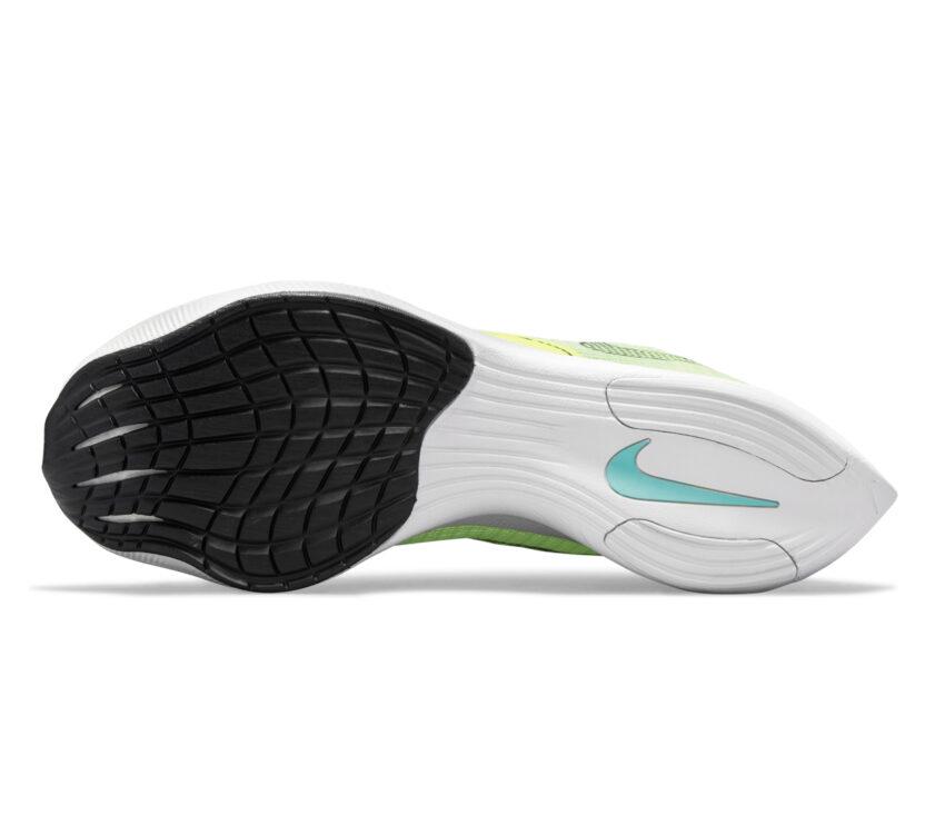 suola scarpe da running veloci da donna nike vaporfly next 2 fluo