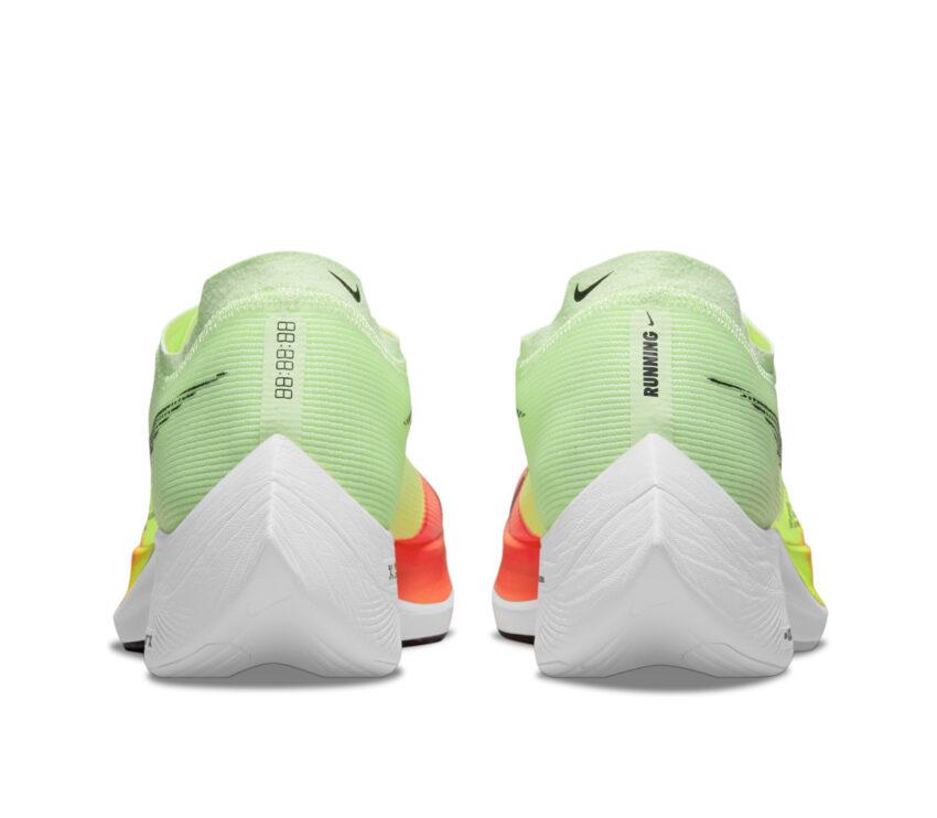 tallone scarpa running fibra di carbonio nike vaporfly next 2 fluo da uomo