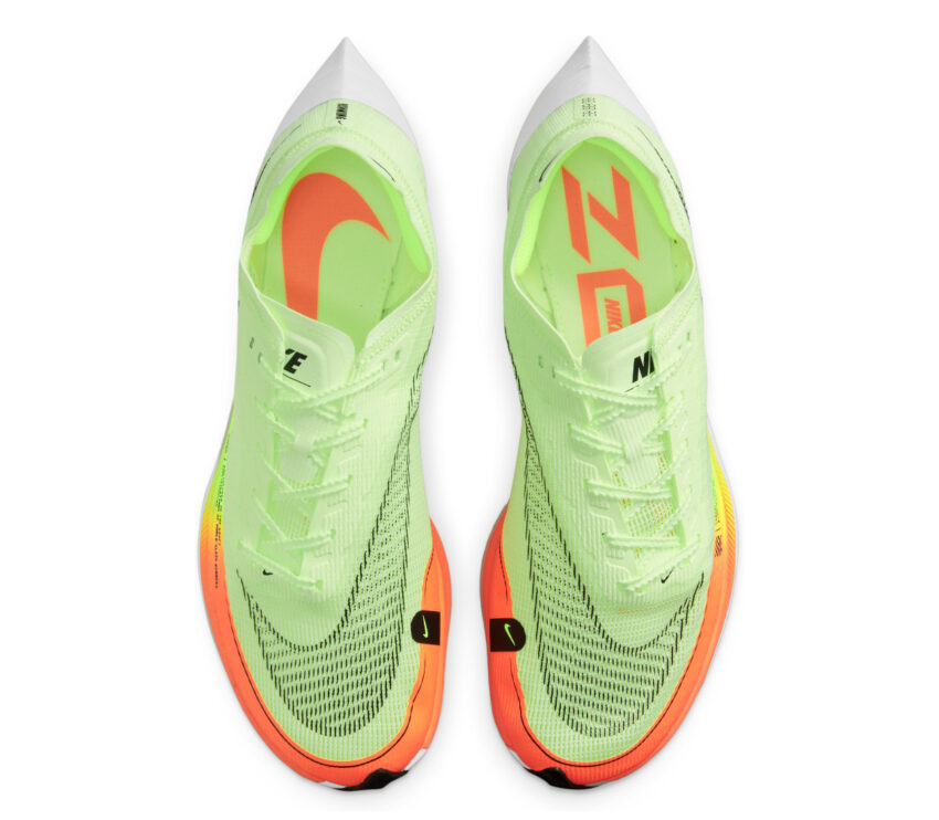 tomaia scarpa running fibra di carbonio nike vaporfly next 2 fluo da uomo