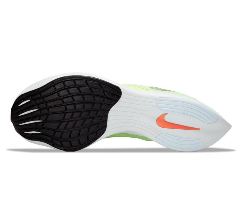 suola scarpa running fibra di carbonio nike vaporfly next 2 fluo da uomo
