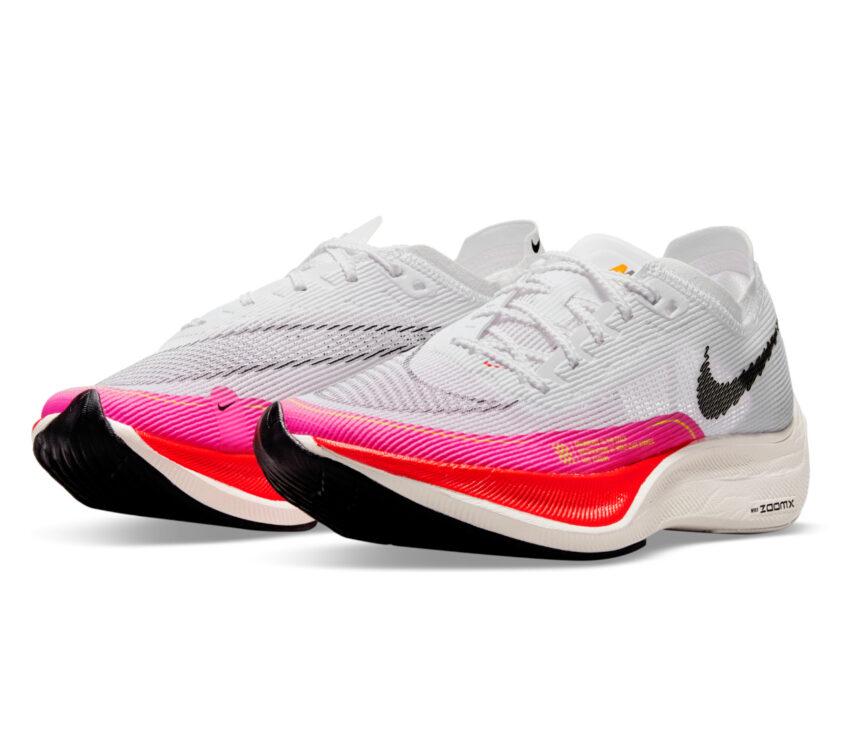 coppia scarpa da running veloce da gara nike vaporfly next donna colore olimpico