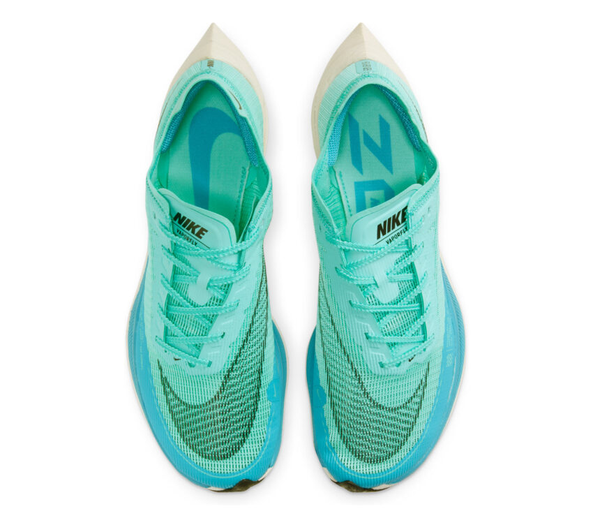tomaia scarpa da gara nike zoom x vaporfly 2 azzurra da uomo