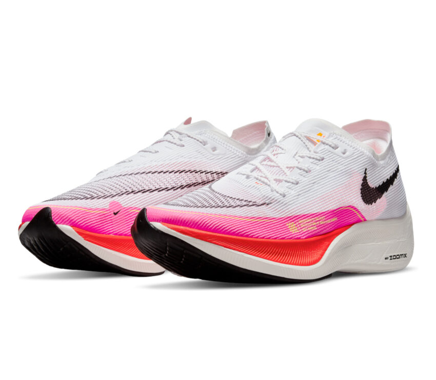 coppia nike zoomx vaporfly 2 next bianche e rosa