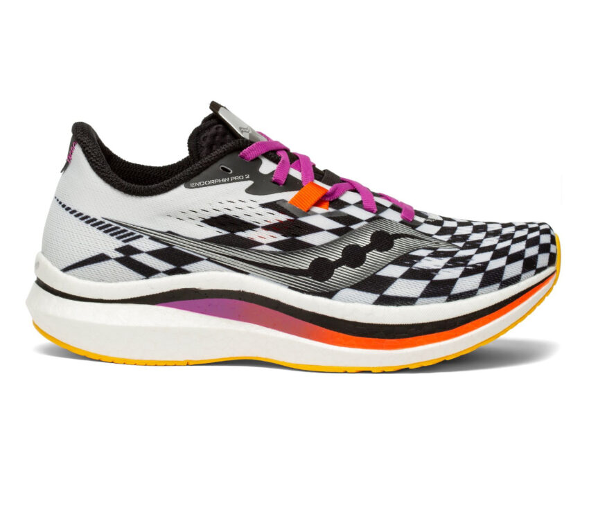 scarpa da running donna con piastra in fibra di carbonio Saucony endorphin pro 2