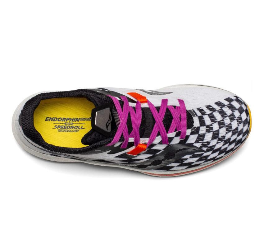 tomaia scarpa da running donna con piastra in fibra di carbonio Saucony endorphin pro 2