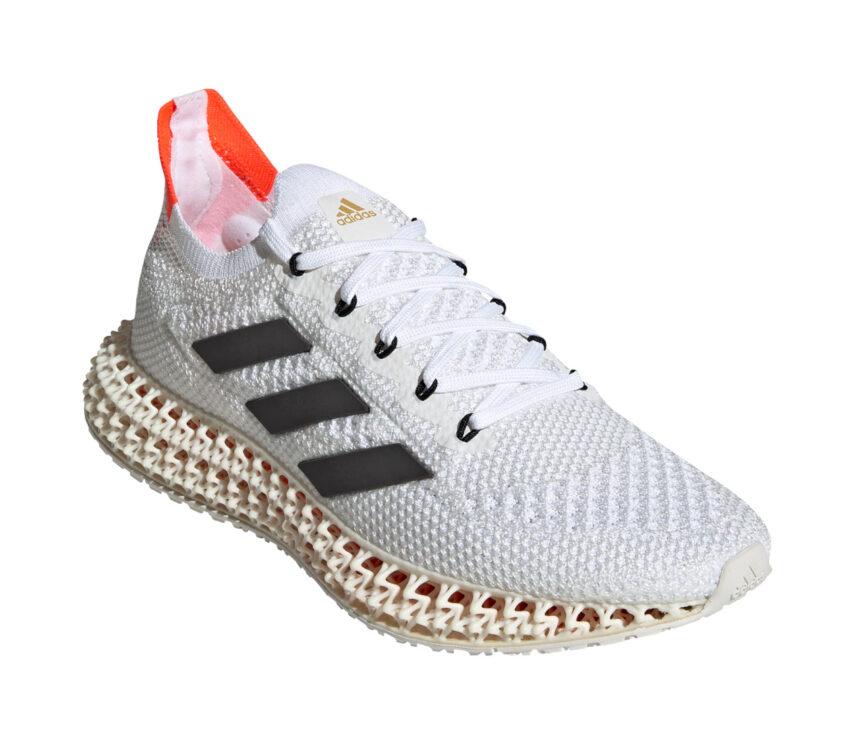 lato scarpa da running adidas 4DFWD da uomo colore bianco