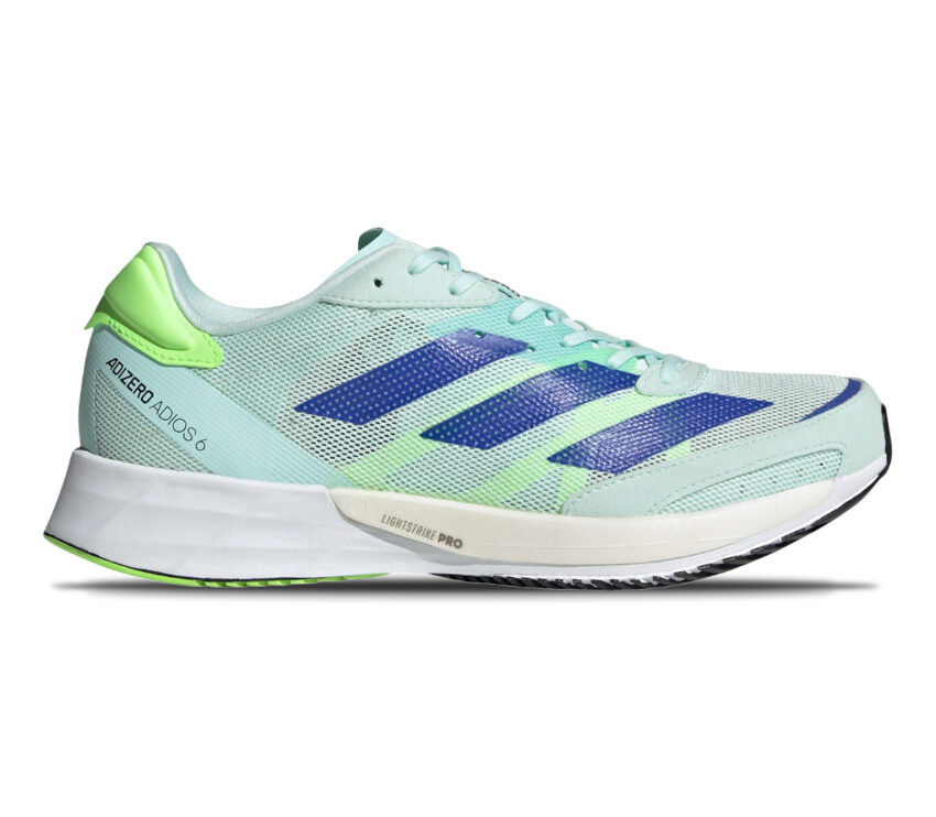 scarpa da running reattiva da donna adios 5 adizero azzurra