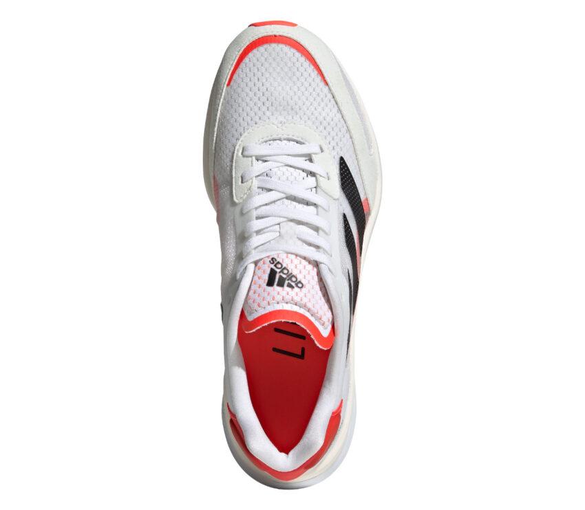 tomaia scarpa da running uomo da gara adidas adios 6 bianca