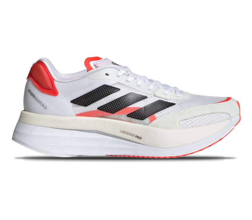 scarpa da running donna veloce adidas adizero boston 10 bianca e rosa