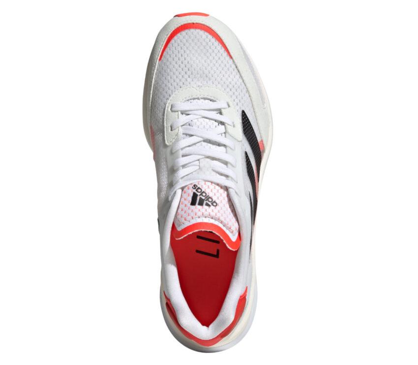 tomaia scarpa da running donna veloce adidas adizero boston 10 bianca e rosa