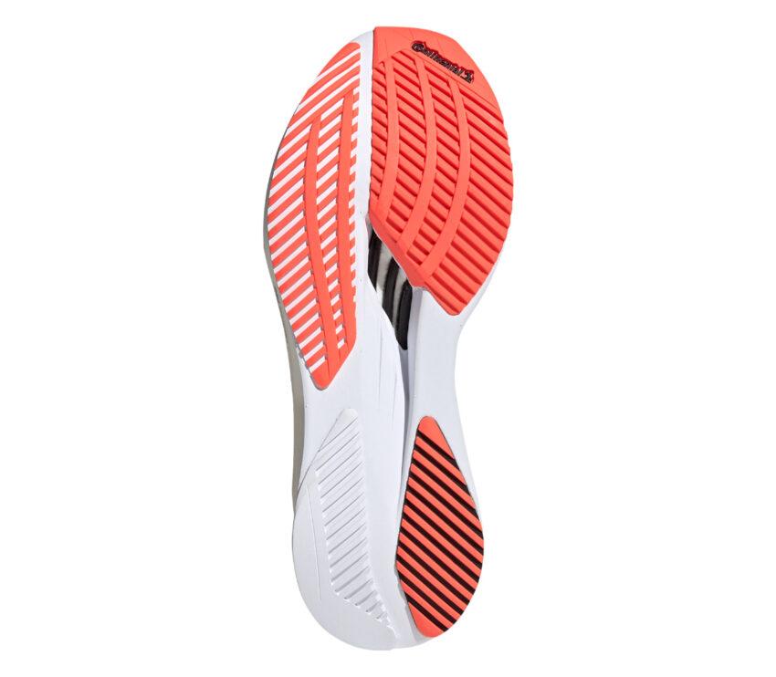 suola scarpa da running donna veloce adidas adizero boston 10 bianca e rosa
