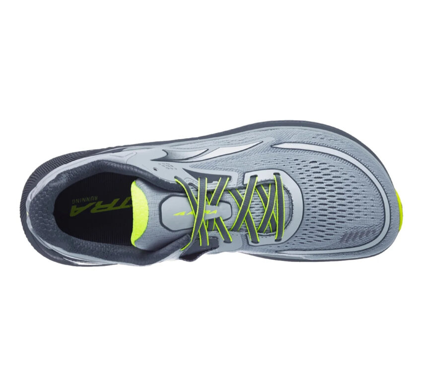 tomaia scarpa da running stabile e reattiva altra paradigm 6 grigia