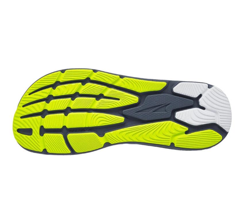 suola scarpa da running stabile e reattiva altra paradigm 6 grigia