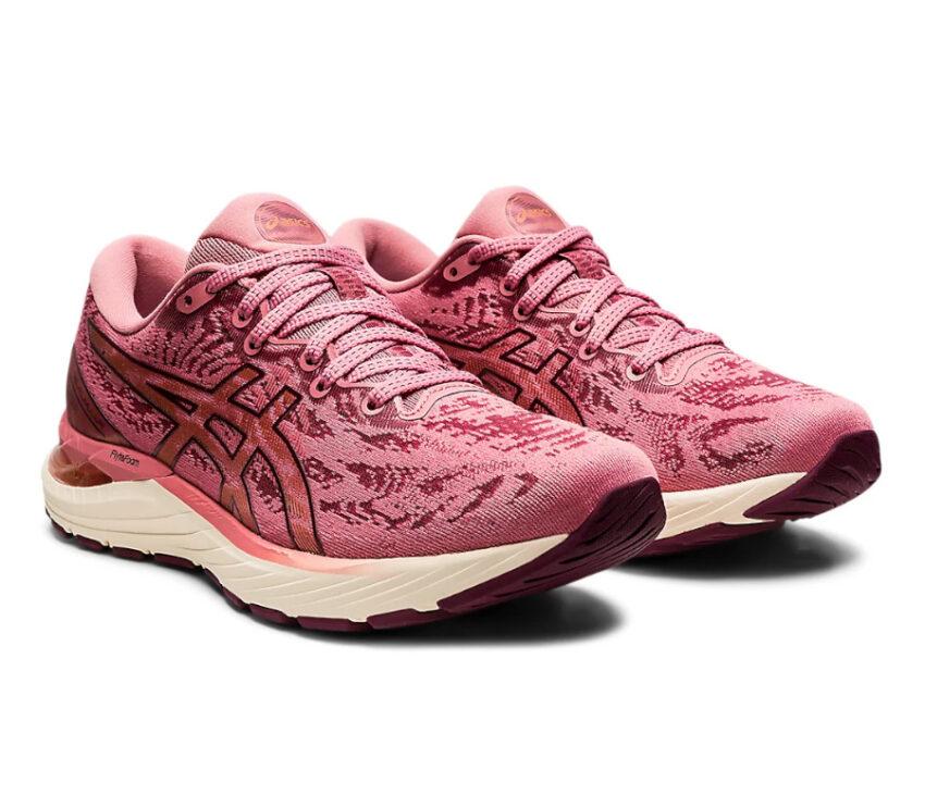 coppia scarpa da running donna asics gel cumulus 23 rosa