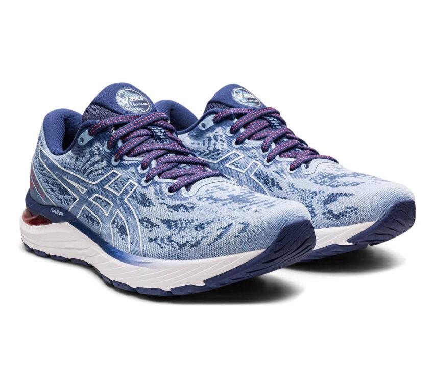 coppia scarpa running donna asics gel cumulus 23 blu