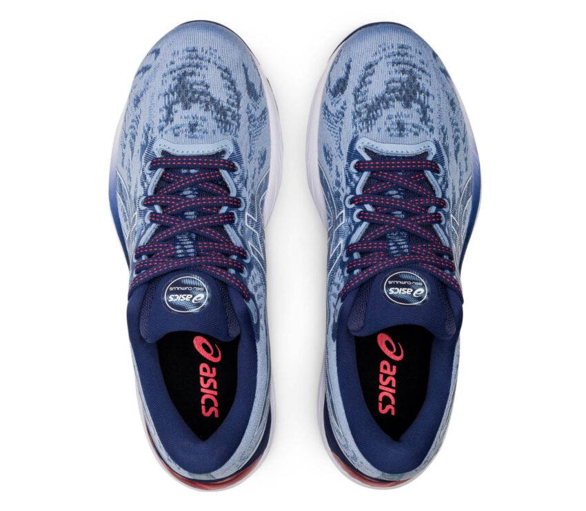 tomaia scarpa running donna asics gel cumulus 23 blu