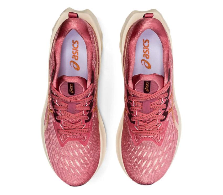 tomaia scarpa da running donna asics novablast 2 rosa