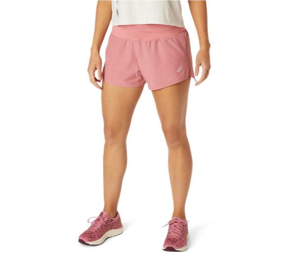 pantaloncini da running donna asics rosa