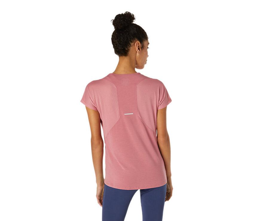 retro t-shirt da running donna Asics con scollo a V