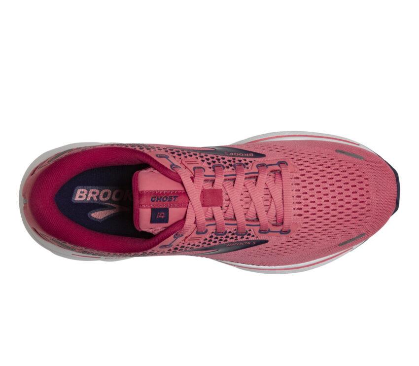 tomaia scarpa da running donna brooks ghost 14 rosa