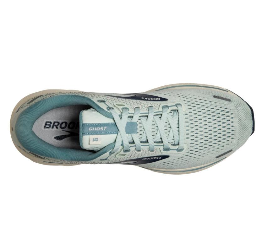 tomaia scarpe da running donna brooks ghost 14 grigie