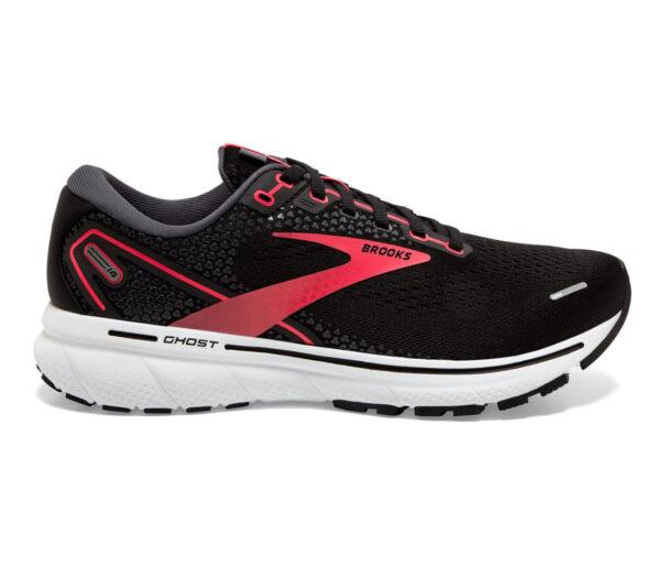 scarpa da running donna brooks ghost 14 narrow nera e rosa