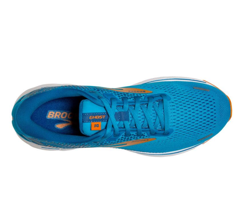tomaia scarpa da running ammortizzata brooks ghost 14 azzurra
