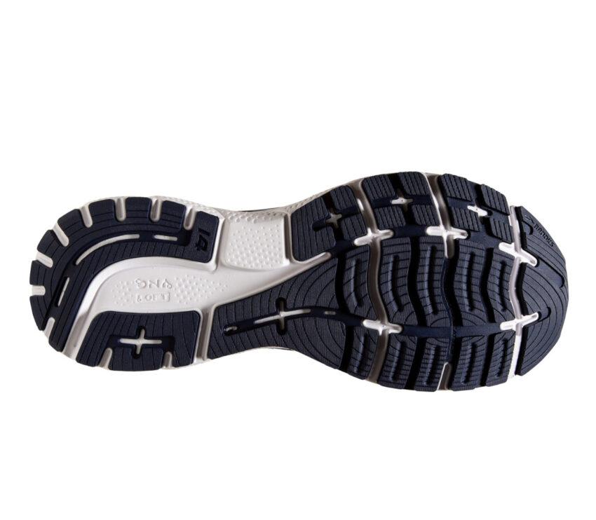 suola scarpa da running ammortizzata brooks ghost 14 blu