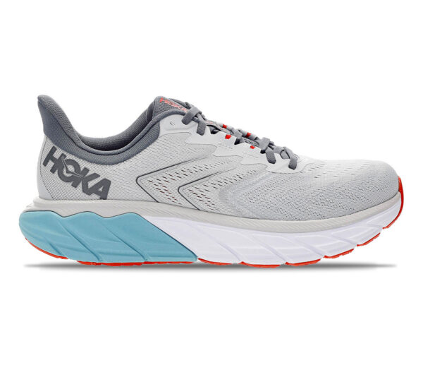 scarpa da running stabile Hoka arahi 5 grigia