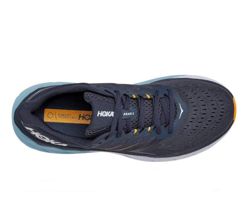 tomaia scarpa da running stabile Hoka arahi 5 blu